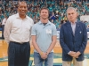 Way Cool! Being introduced from the floor of the UNCW Trask Coliseum with Malcomb Coley & Shaun Olsen